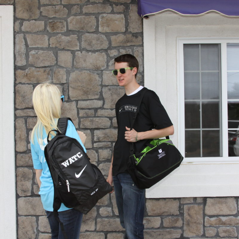 Check me out, modeling some WATC swag with Morgan.