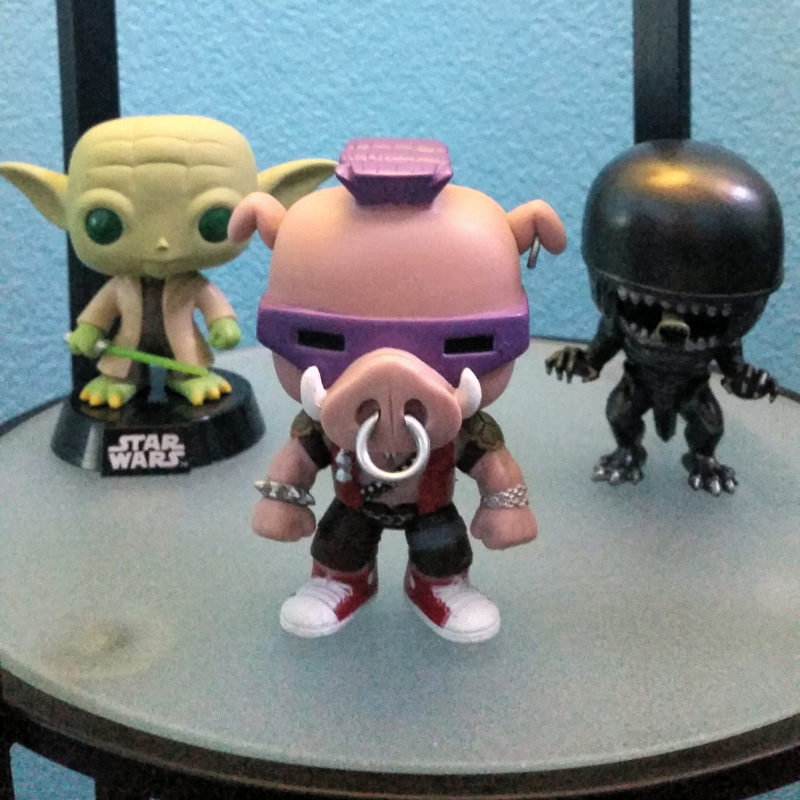 My office buddies: Yoda, Bebop, and Alien