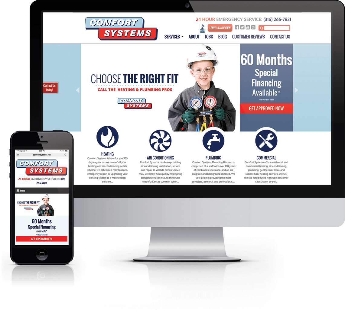 Full service marketing for Wichita area heating and cooling company