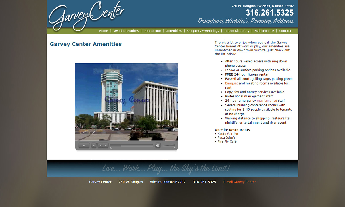 Garvey Center Website - Before