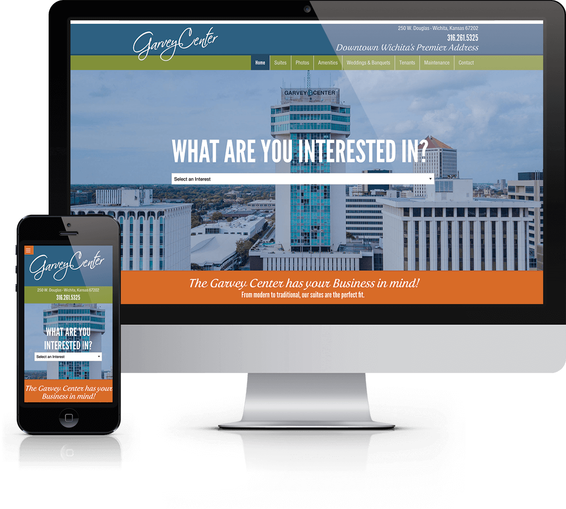 Responsive WordPress website for downtown Wichita office space and apartments
