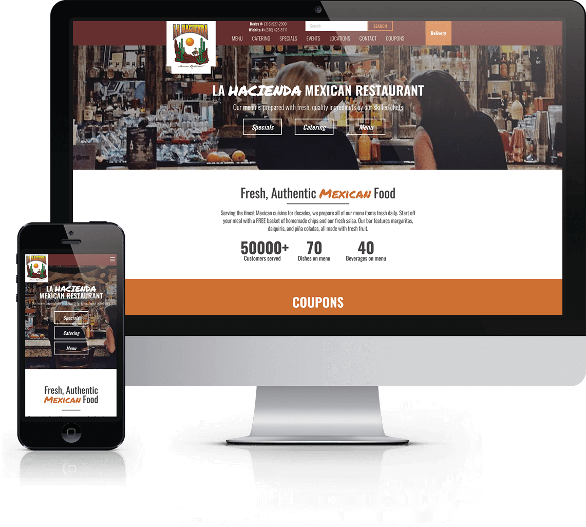 WordPress website, photography & social media support for Mexican restaurant based in Derby, Kansas