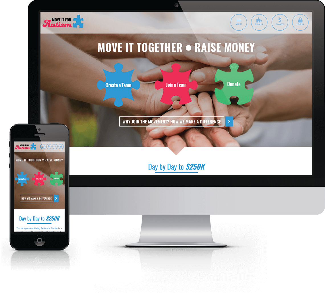 Interactive fundraising platform for ongoing virtual fundraising to benefit Greater Expectations