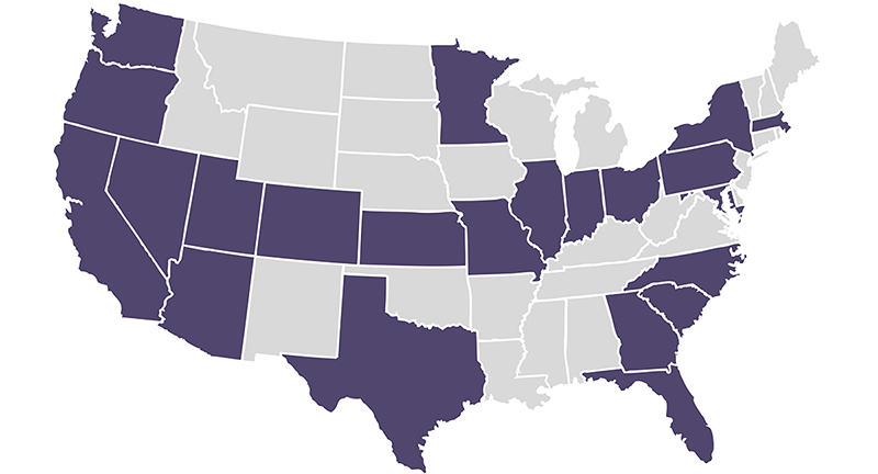 Although we are a small agency, we currently serve clients in 22 states!