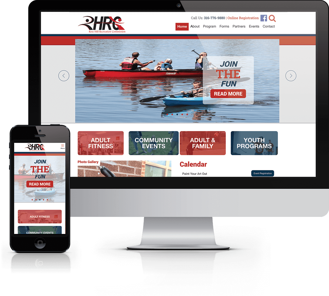 Custom WordPress website with ActiveNet integration for local recreation organization