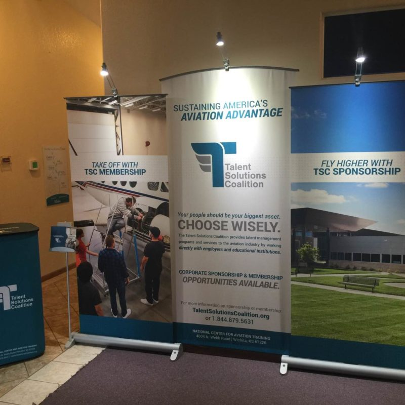 Talent Solutions Coalition Custom Tradeshow Popup Banner