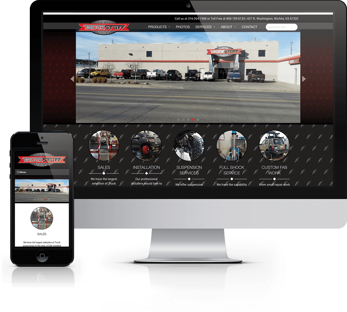 Custom WordPress website for Wichita area truck accessory retail and installation