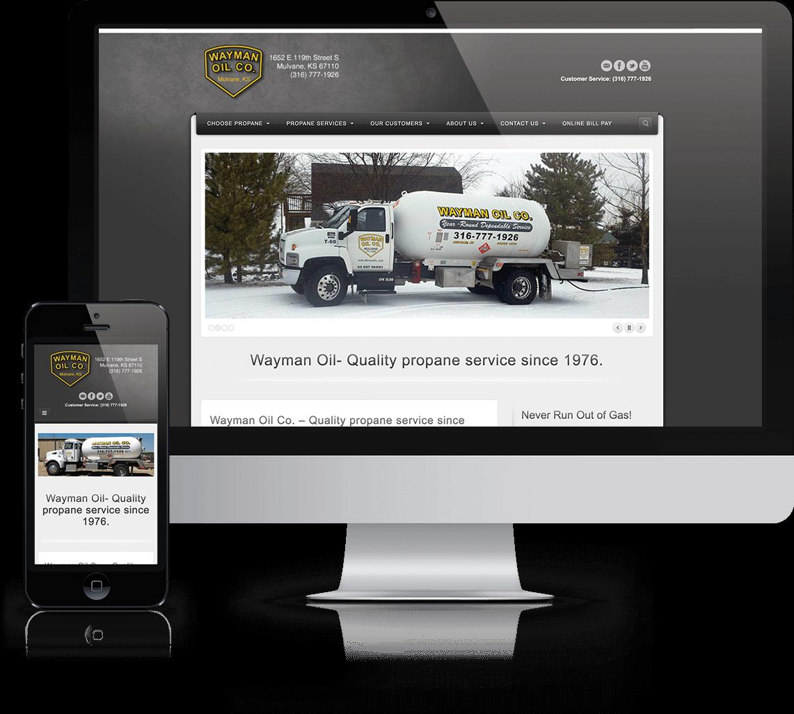 WordPress website, email marketing, and social media management for propane provider in Mulvane, Kansas