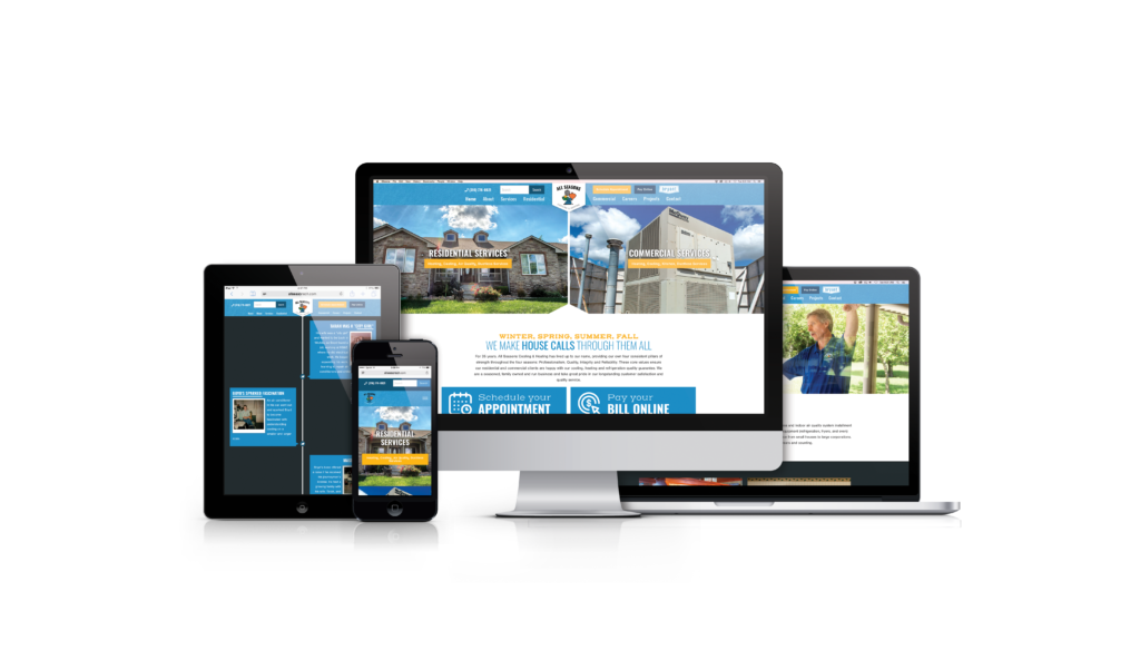 All Seasons Cooling & Heating Custom Website