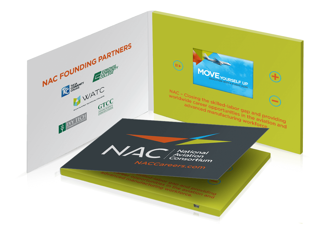 Custom video brochures are a fun, interactive way to present your products or services to new audiences.