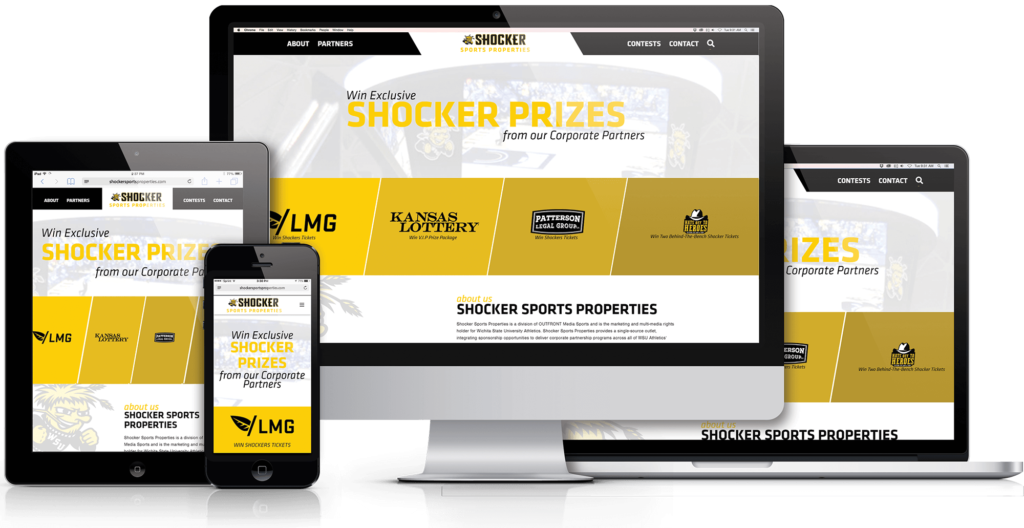 Custom Shocker Sports Properties Website Pops with Contest Entries