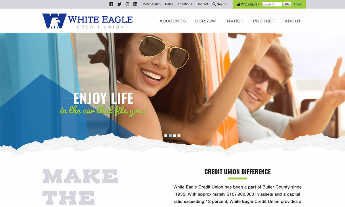 White Eagle Credit Union New Website