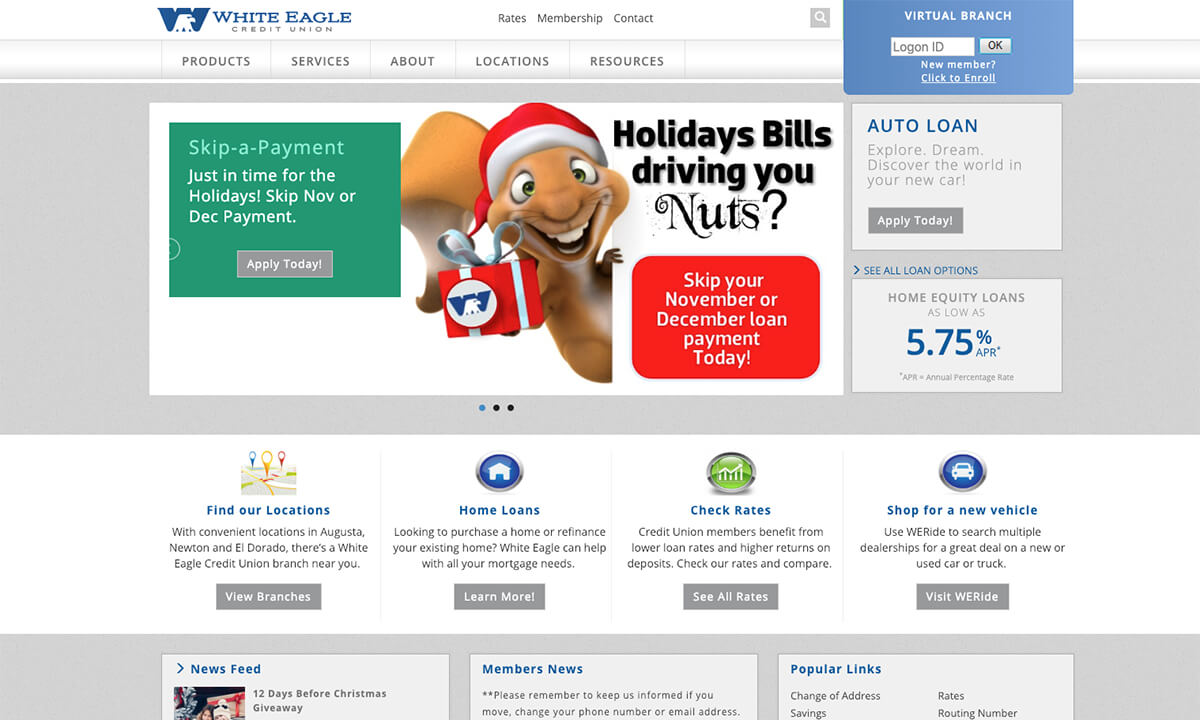White Eagle Credit Union Old Website