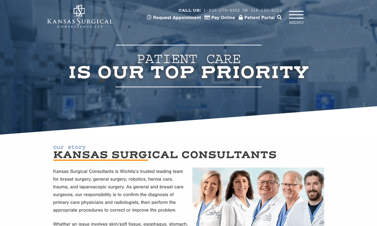 Kansas Surgical Consultants New Website