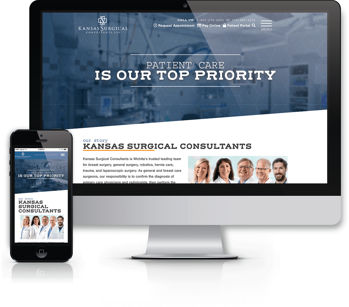 Major website overhaul with WordPress for Wichita-based surgical team
