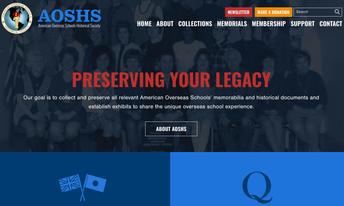 American Overseas Schools Historical Society New Website