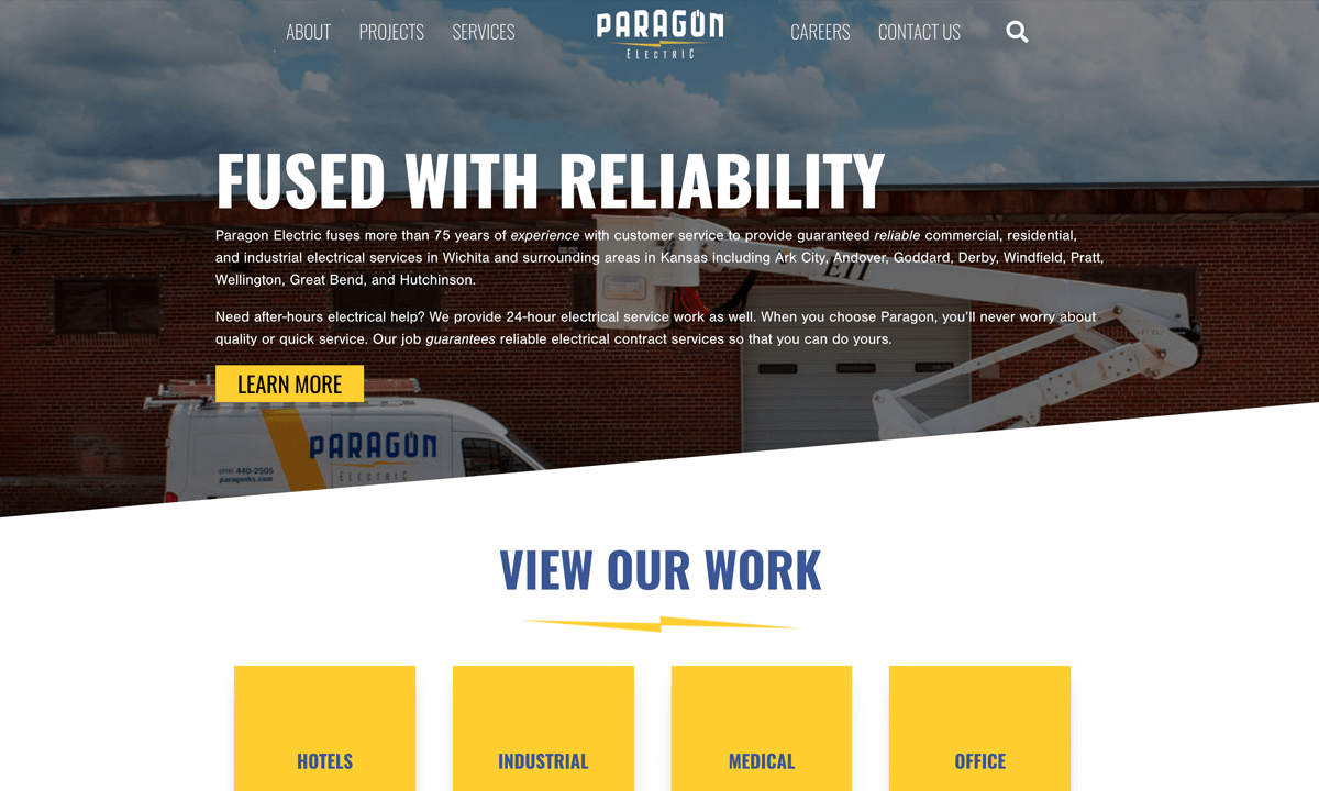Paragon Electric New Website