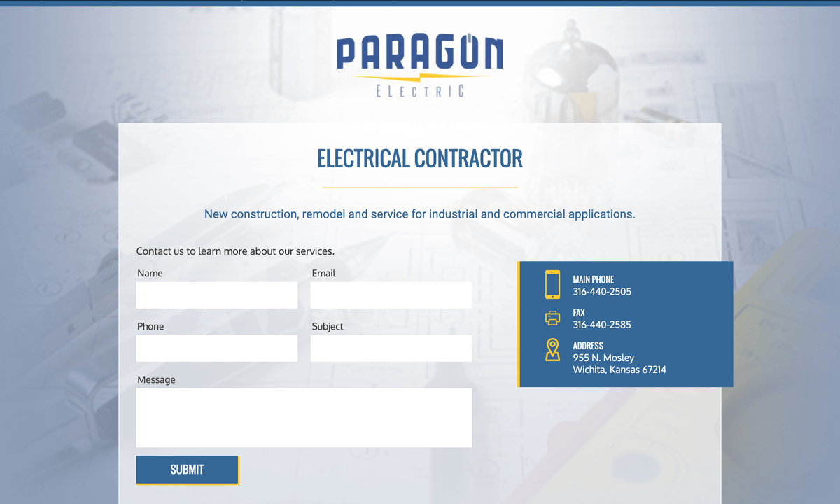 Paragon Electric Old Website
