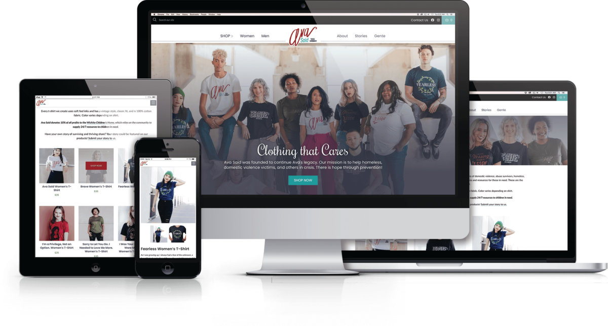 "Ava Said E-Commerce Website Launches ""Clothing That Cares"""
