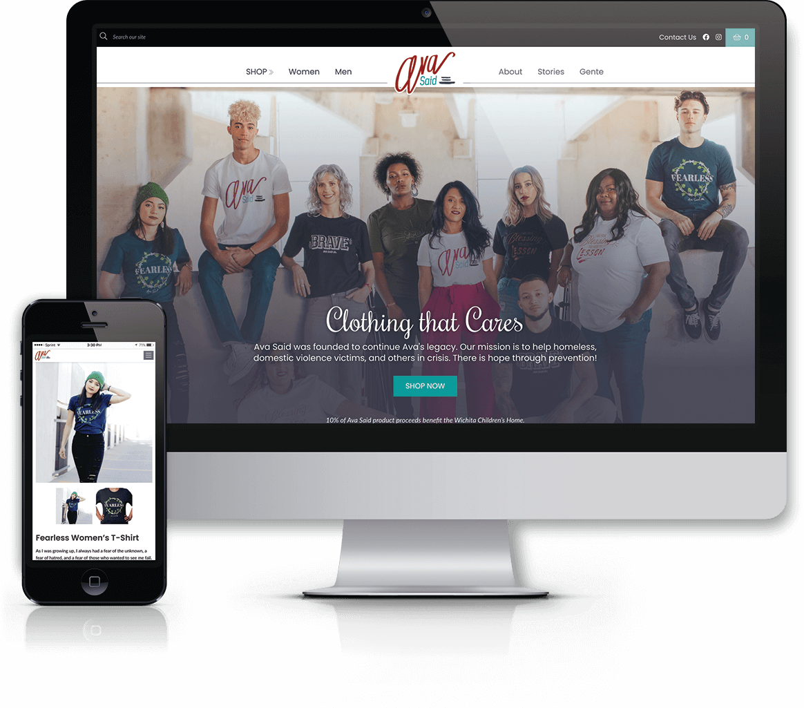 "Ava Said: WordPress E-commerce Website Launches ""Clothing That Cares"""