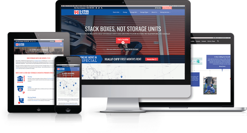 Fresh Website Design Highlights U-Stor's Ground Floor Access Against Competitors