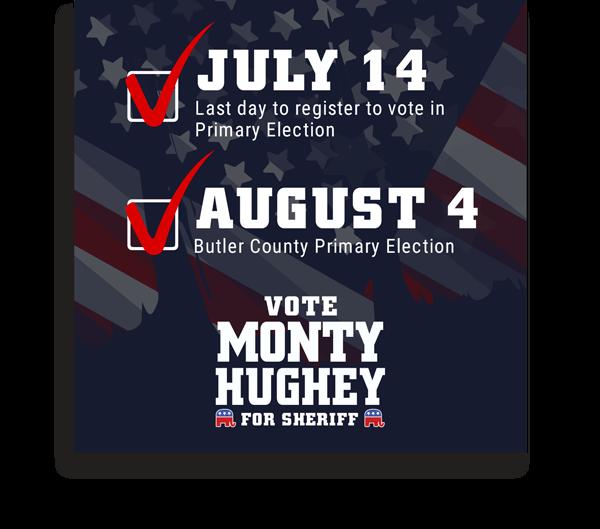 Monty Hughey for Sheriff