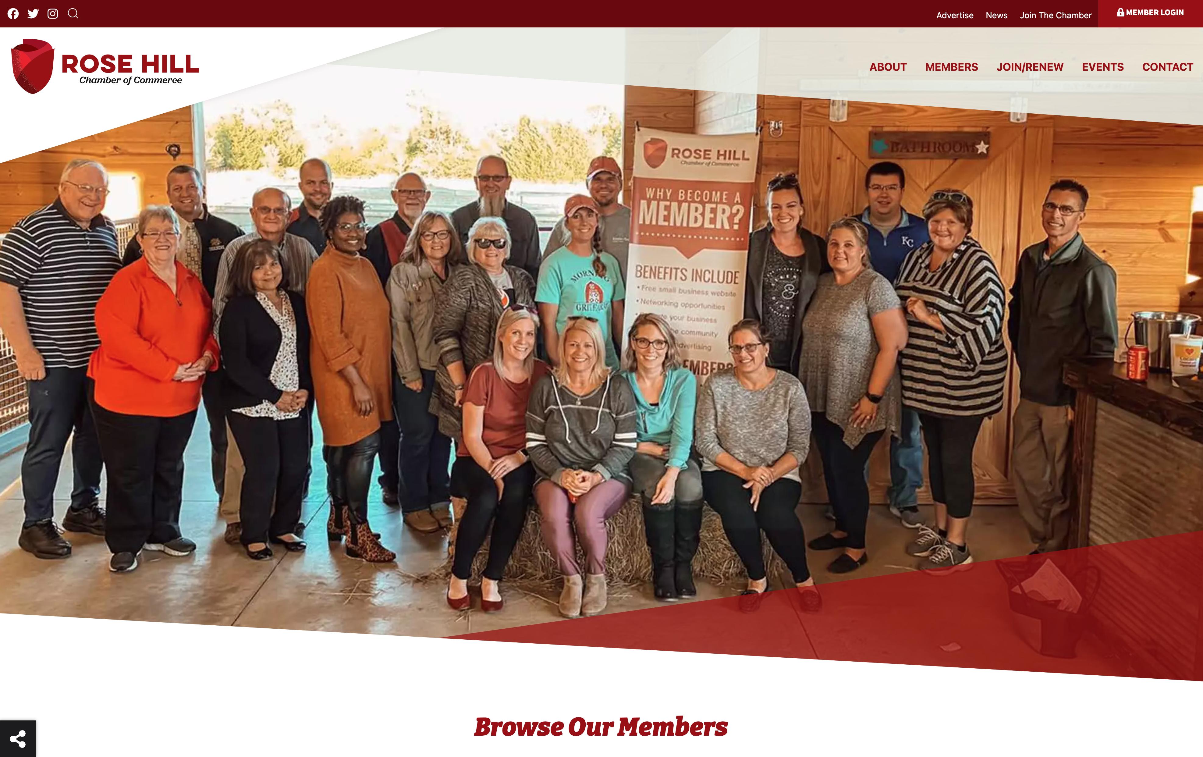 rose hill chamber website